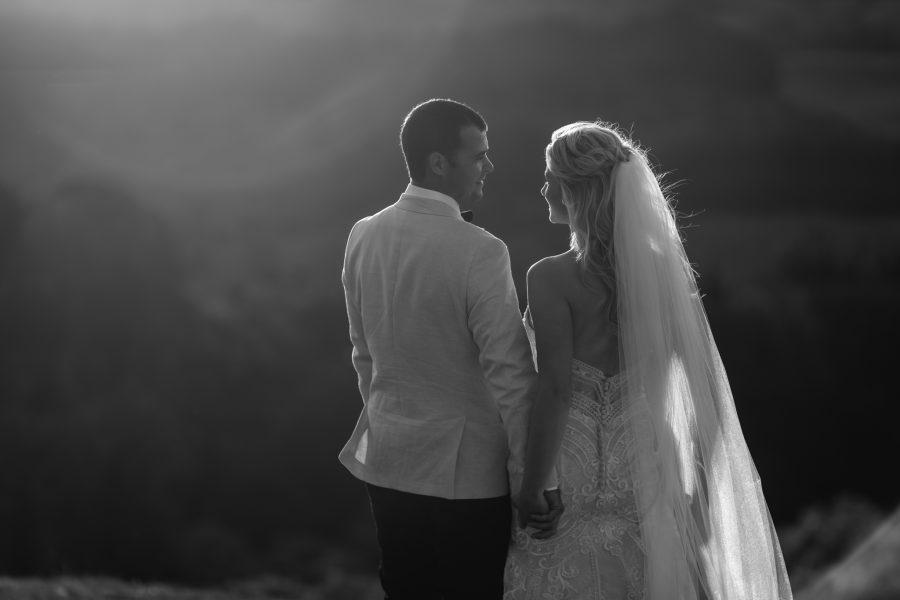 Tauranga Wedding walking in hills