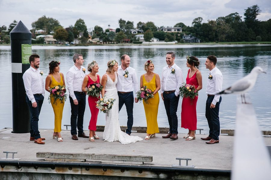 Bridal party colours with country vibes