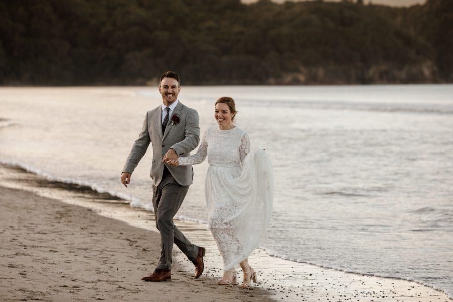 Waihi beach wedding fun candid photography