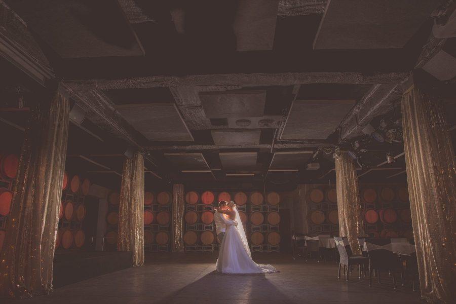 Award Winning Wedding Image Winery in Barrel Room