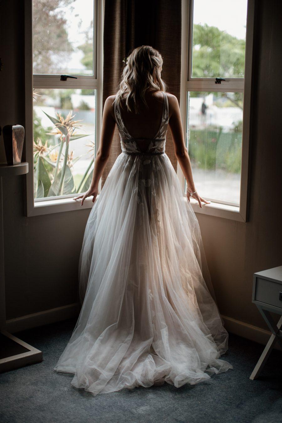 Bridal prep blush boho dress