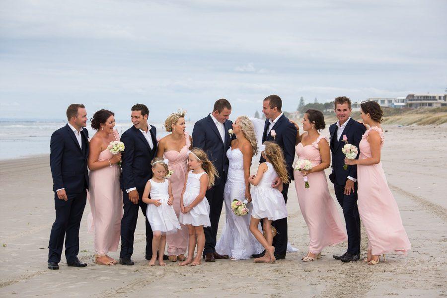 Mount Maunganui Wedding Party Photos