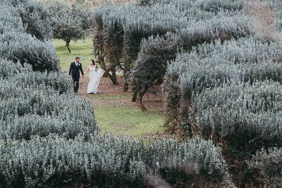 Rustic Wedding photo walking in the country