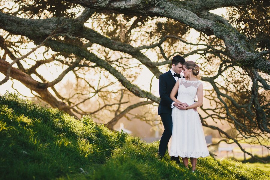 Romantic moment with vintage style wedding
