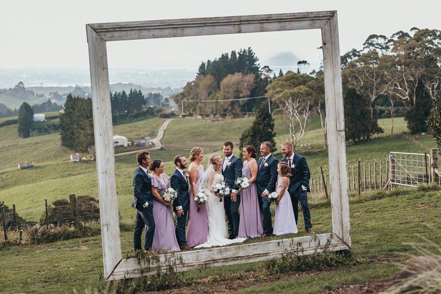 Wedding party at eagle ridge estate garden in Tauranga
