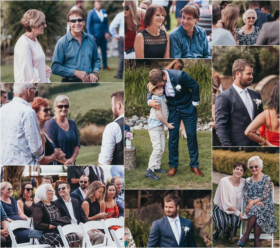 Happy guests at Eagle Ridge estate country wedding