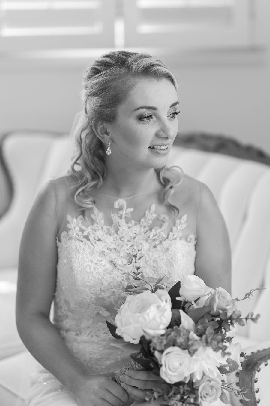Bride before wedding at Eagle Ridge Lodge
