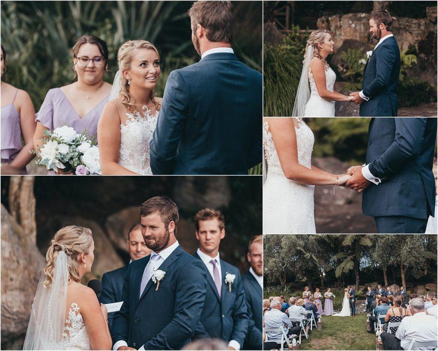 Wedding ceremony in Tauranga