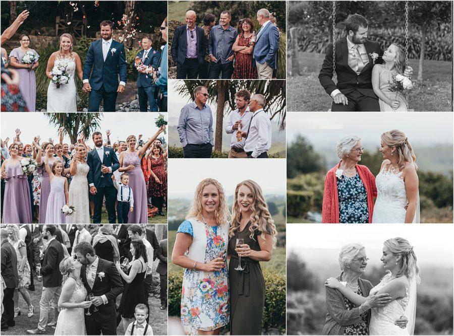 Wedding guests up at Eagle Ridge Estate Tauranga New Zealand