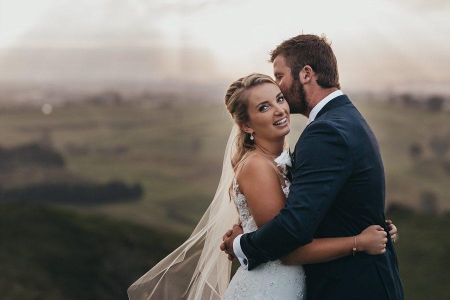 Happy Te Puke Bride Jodi with nick on their wedding day