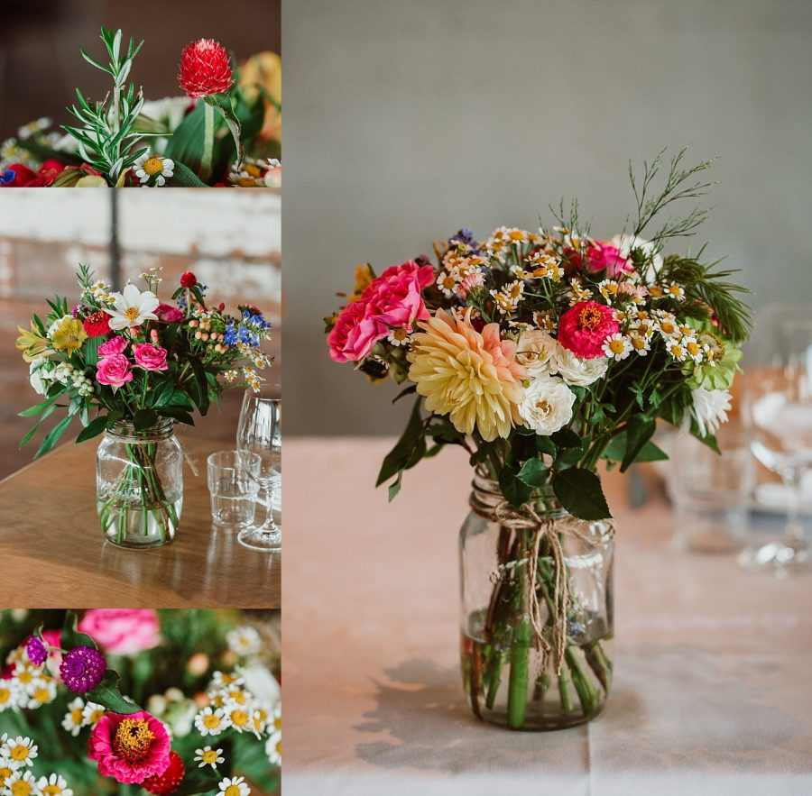 floral Table settings setting at Flat White Cafe Wedding venue