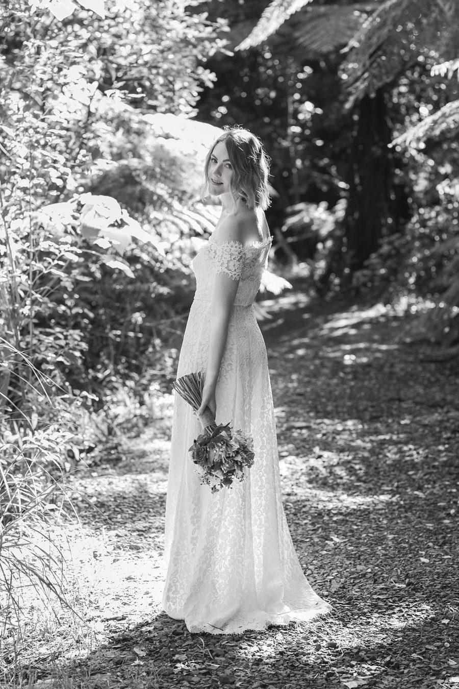 Boho lace bride