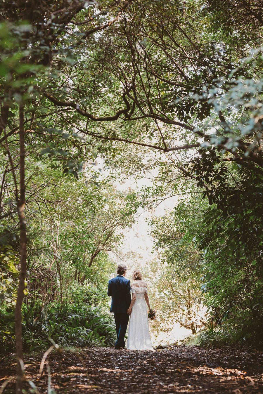 New Zealand Waihi Beach Wedding Bush walk