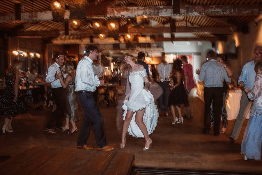 Dancing at Flat White Cafe Wedding Pure Images Photography