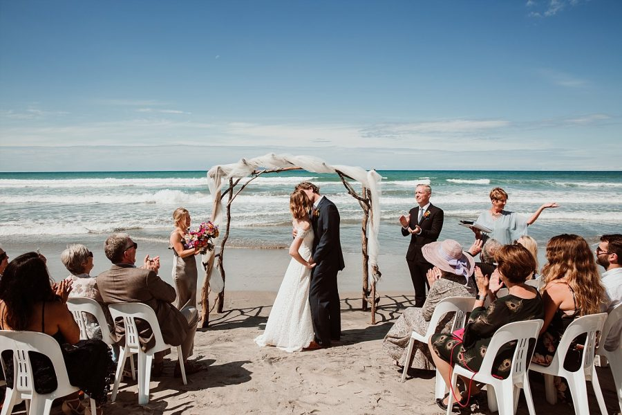 Wedding ceremony on Waihi Beach
