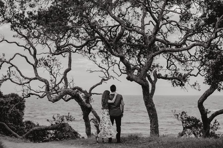 Black and White seaside image