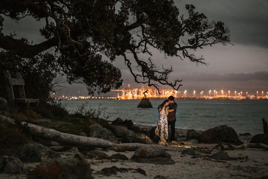Evening engagement shoot Mount Maunganui