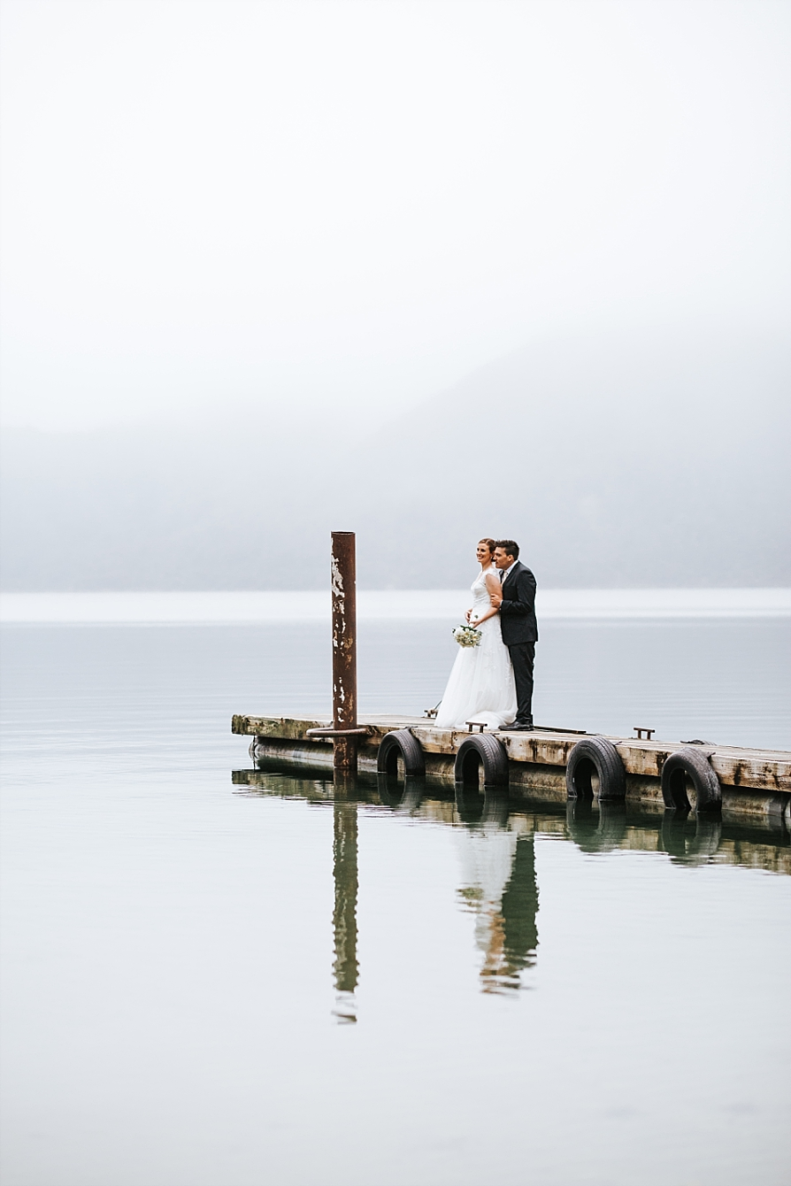 Bride and Groom at Lake Okataina Rotorua Pure Images Photography