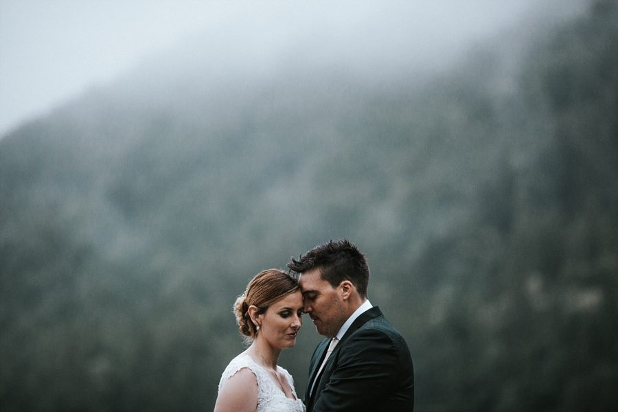 Moody wedding in the rain image