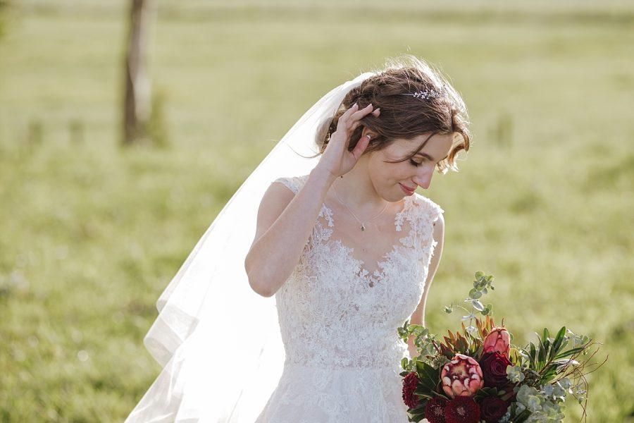 relaxed bridal veil