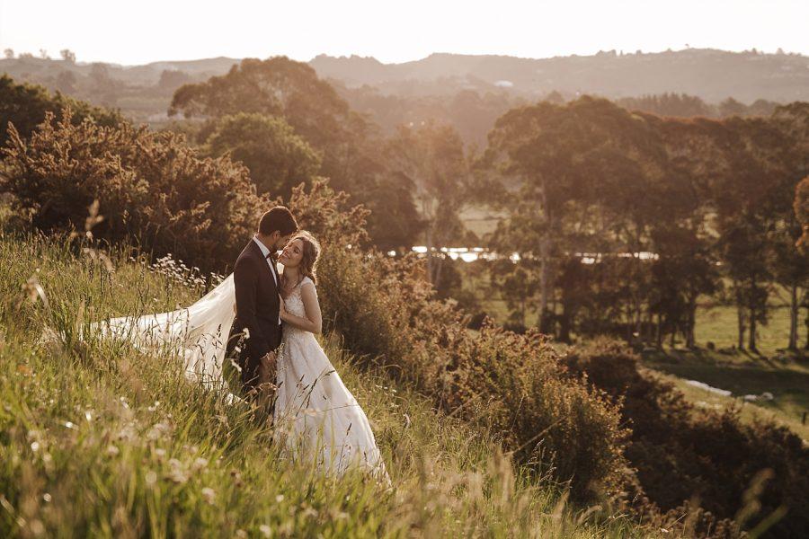 Golden hour views over river NZ