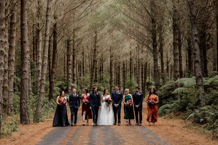 Forest Wedding Party Rotorua New Zealand