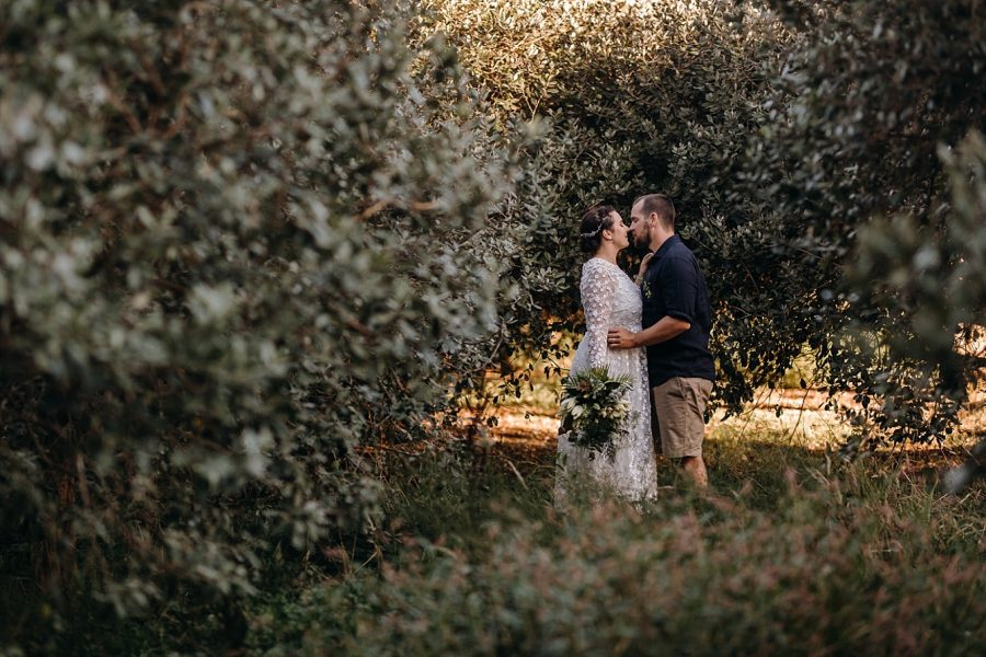 Country wedding in the orchard