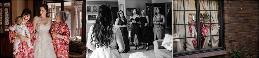 Brides reveal to bridesmaids