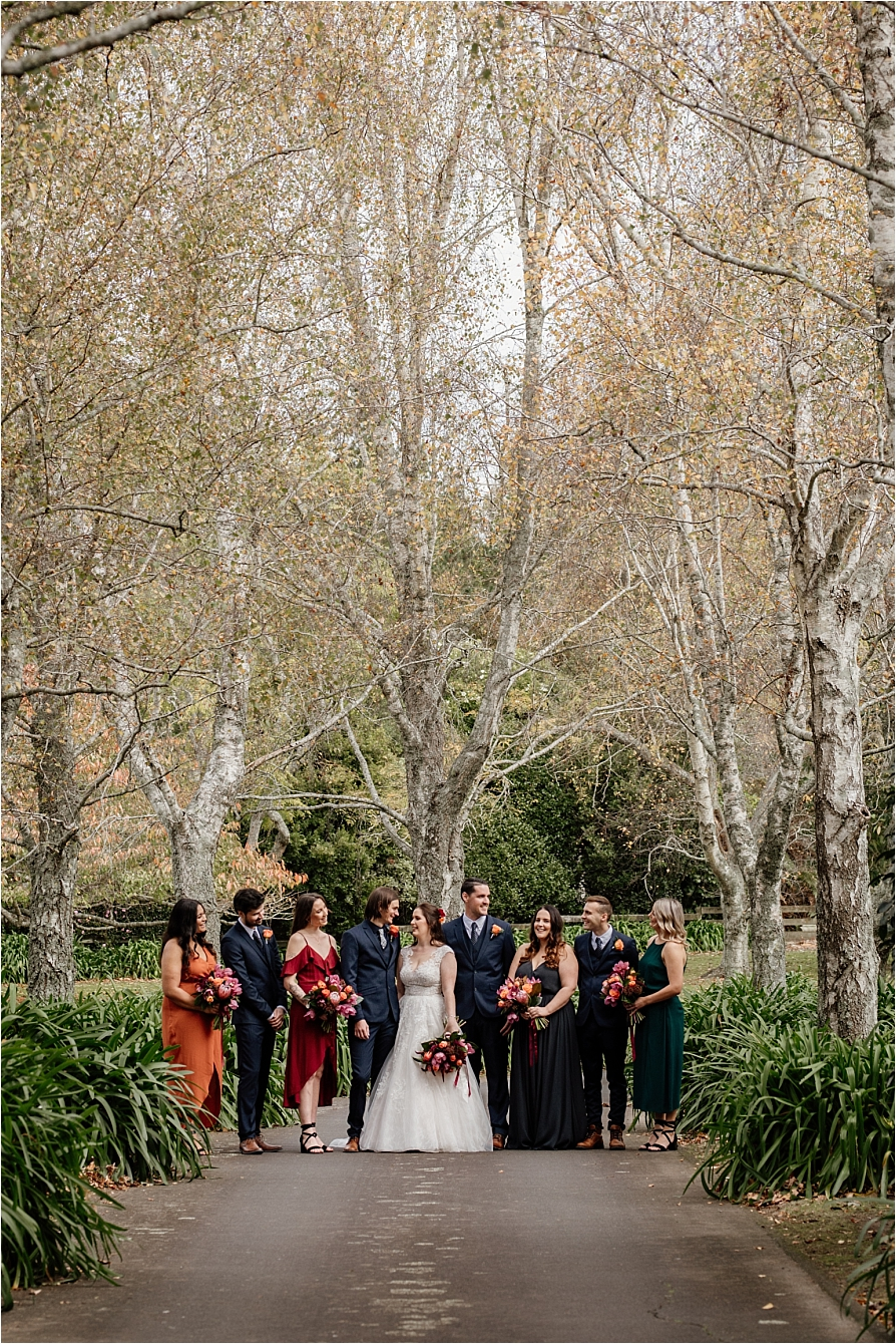 Autumn country wedding party
