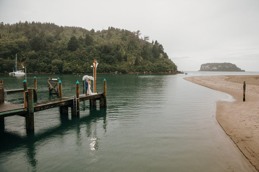 Whangamata bar wedding in the rain