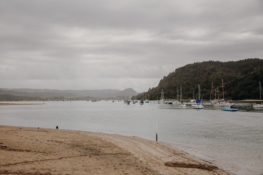 Whangamata bar on a rainy day
