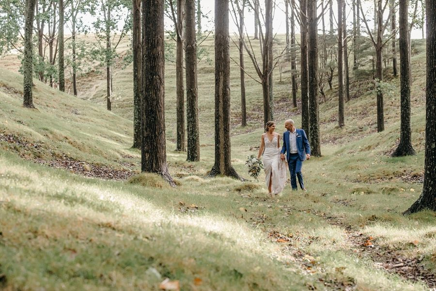 Wedding photos at Whangamata farm wedding