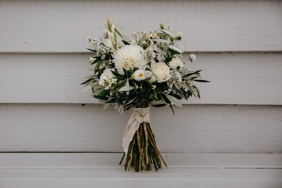 White country style bridal bouquet