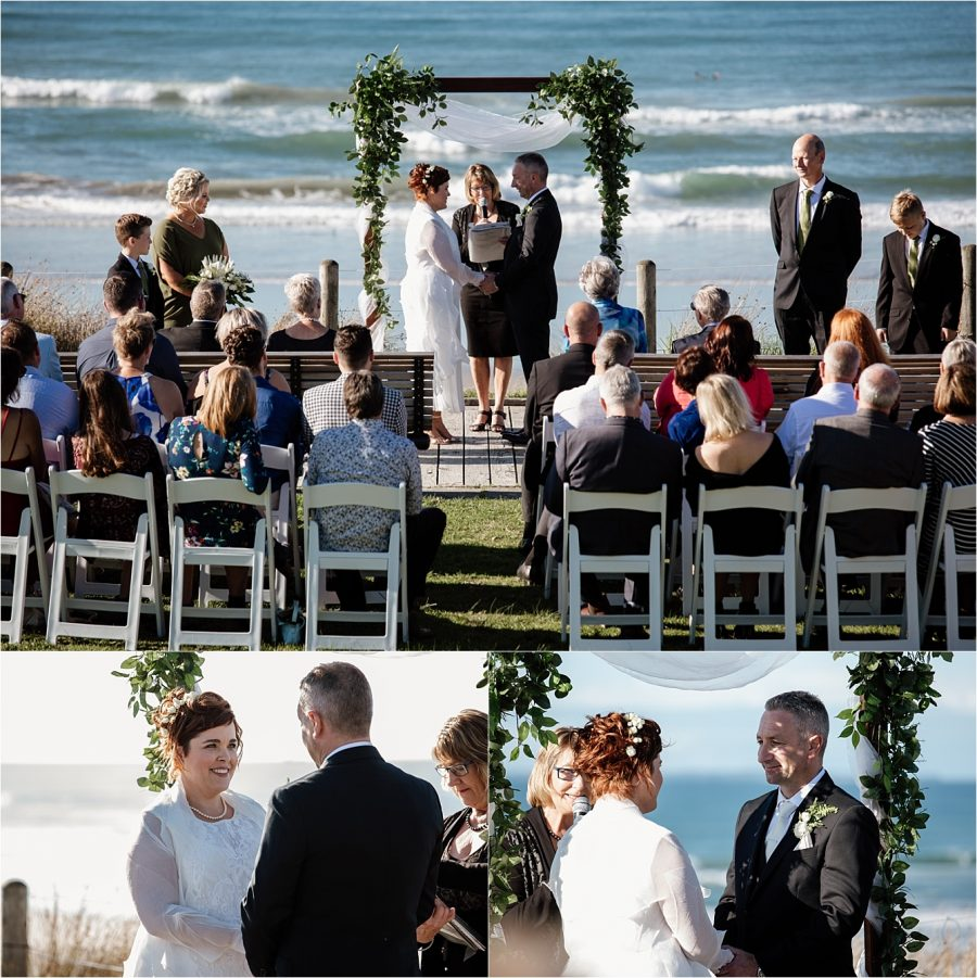 Hart street wedding ceremony on the board walk with Pap Chapman marriage celebrant