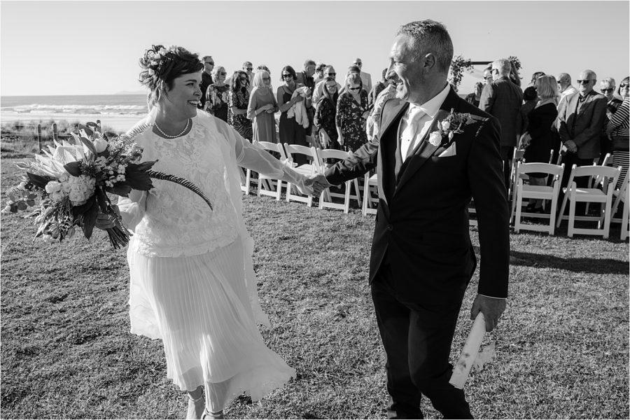 Just married Hart Street Mount Maunganui Beach wedding