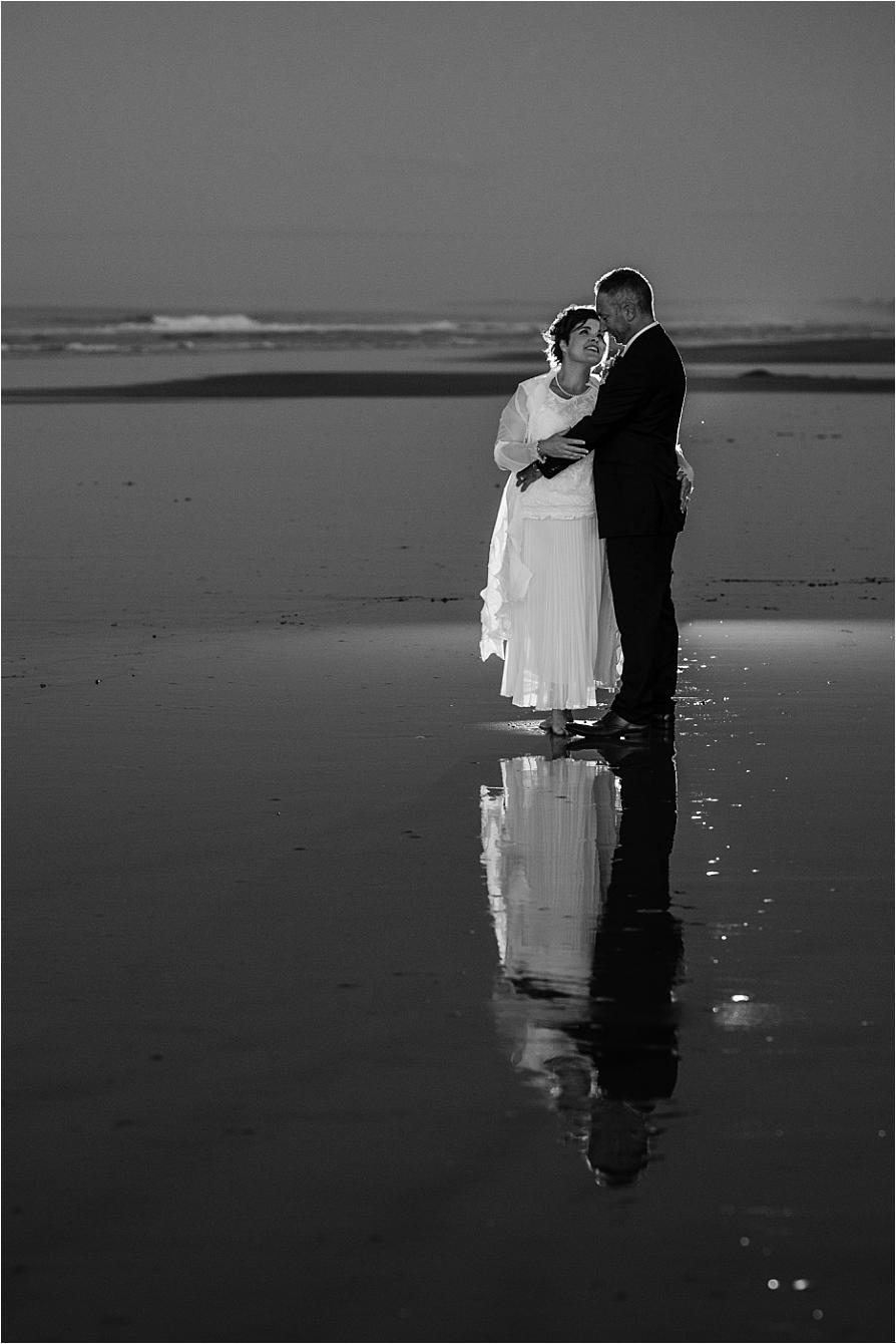 Evening Photograph beach wedding Papamoa