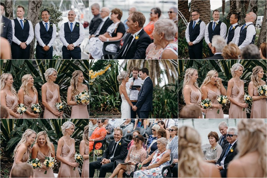 Coromandel wedding ceremony at Salt bar Whitianga