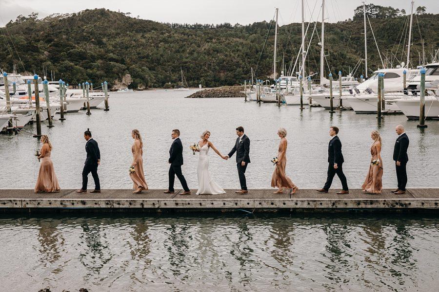 Whitianga Wedding pier images