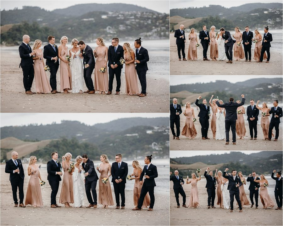 Whitianga Buffalo Beach Wedding Party