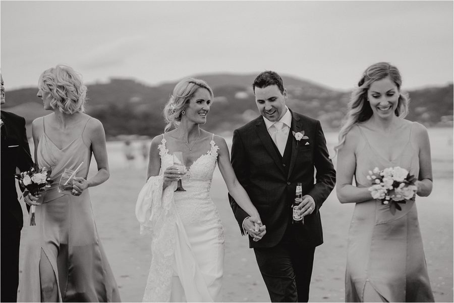 natural moments Whitianga bride and groom