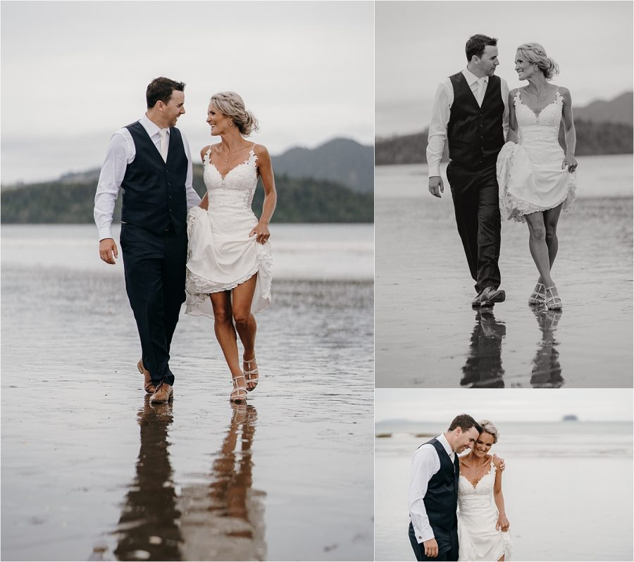 Buffalo Beach Wedding Couple