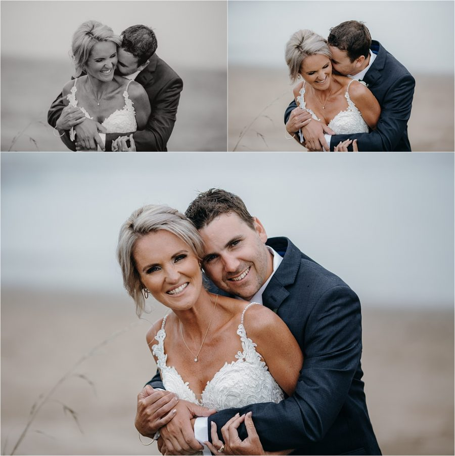 Natural wedding photos on Whitianga Beach