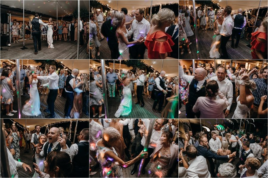 Dance party Whitianga wedding