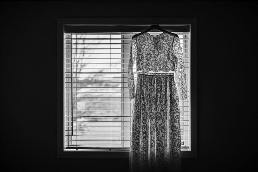 Vintage lace bridal dress