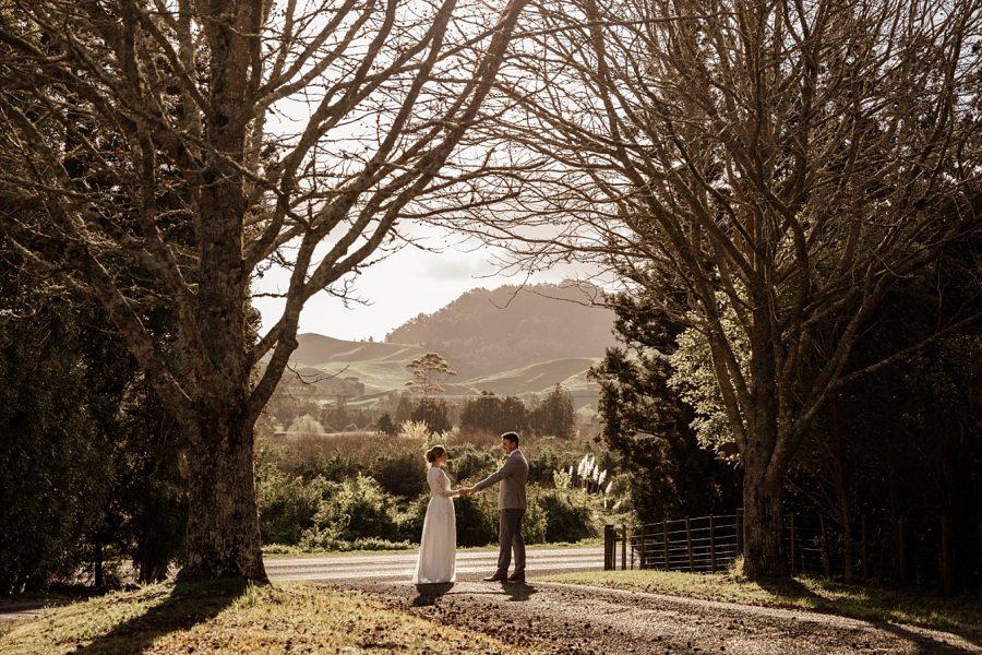 Elopement natural wedding photos