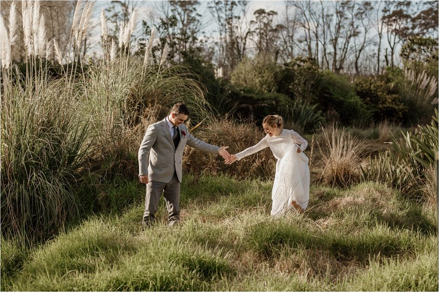 Elopement country wedding New Zealand