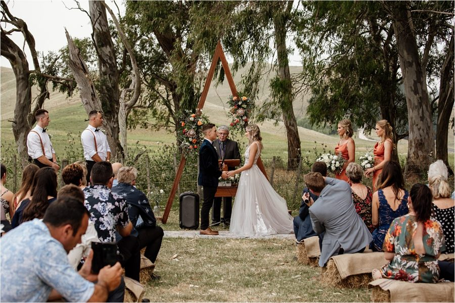 Hawkes Bay farm wedding ceremony