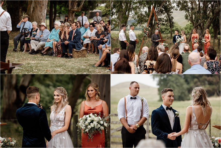 Waiterenui farm wedding ceremony