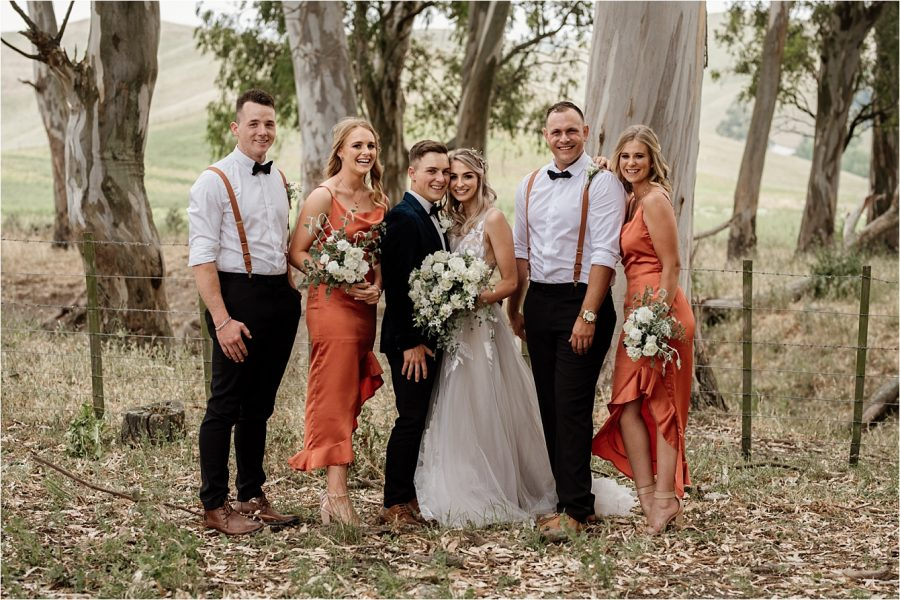 Country rustic vibe bridal party