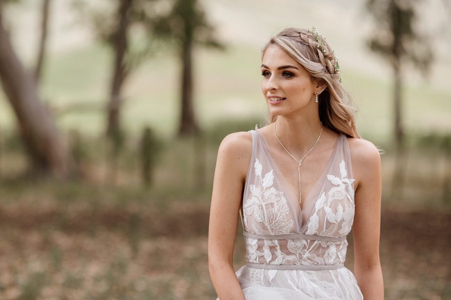 Beautiful bride boho style